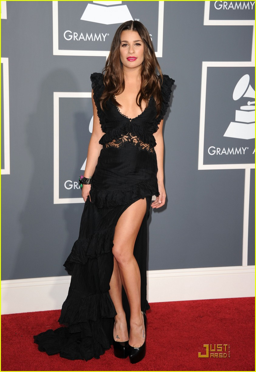 lea michele grammys 02