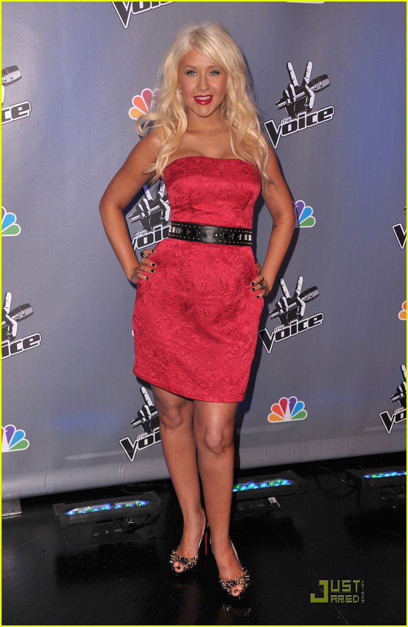christina aguilera voice press conference 112527908