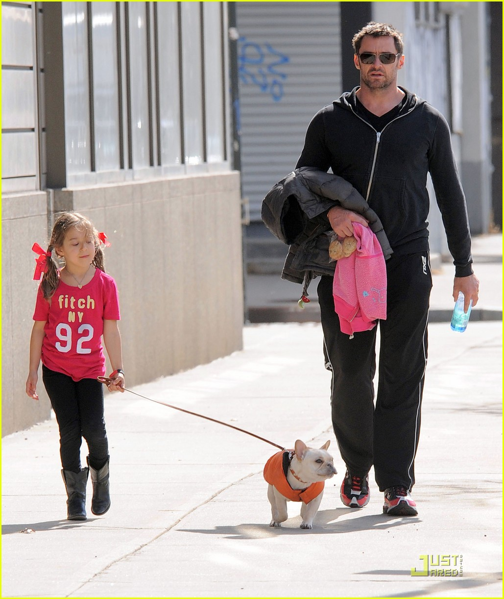 hugh jackman dog walk with ava 01