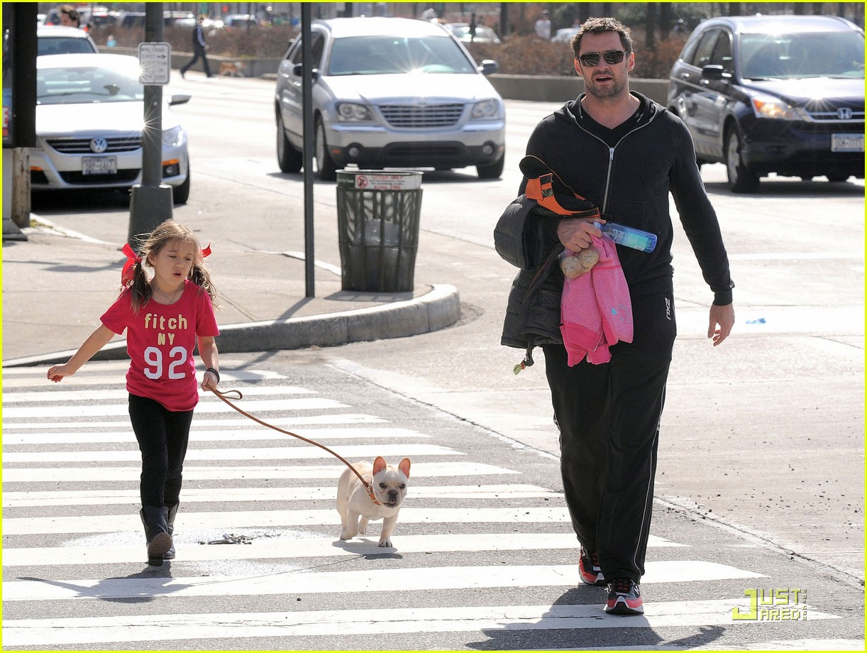 hugh jackman dog walk with ava 072525317