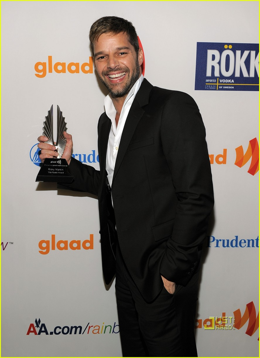 ricky martin glaad awards 02