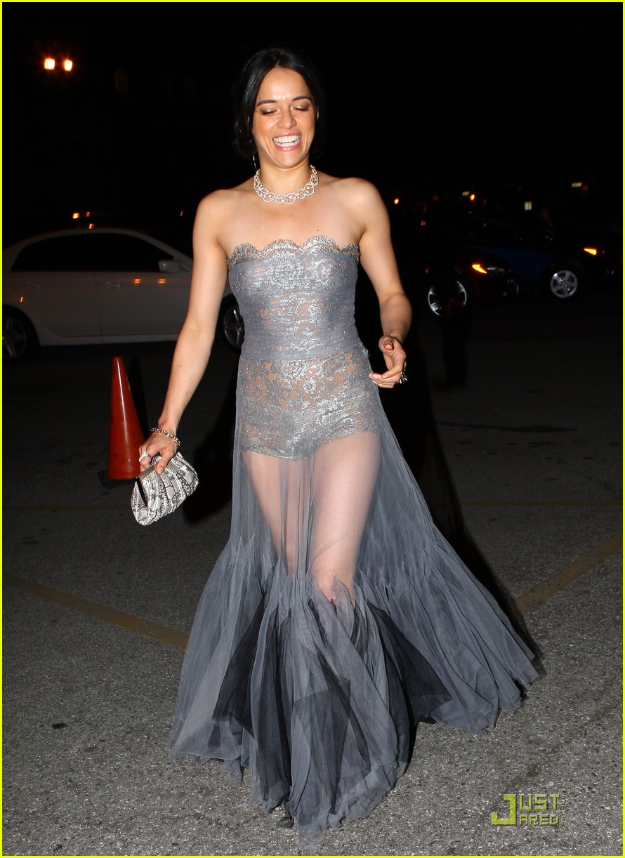 michelle rodriguez sheer dress 05