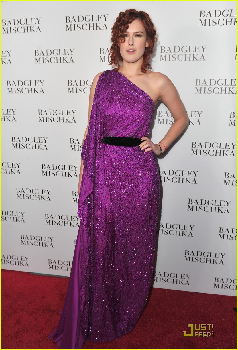 rumer willis badgley mischka flagship opening 08