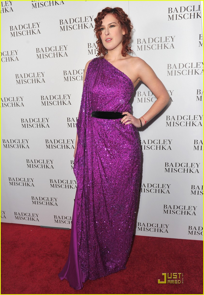 rumer willis badgley mischka flagship opening 11