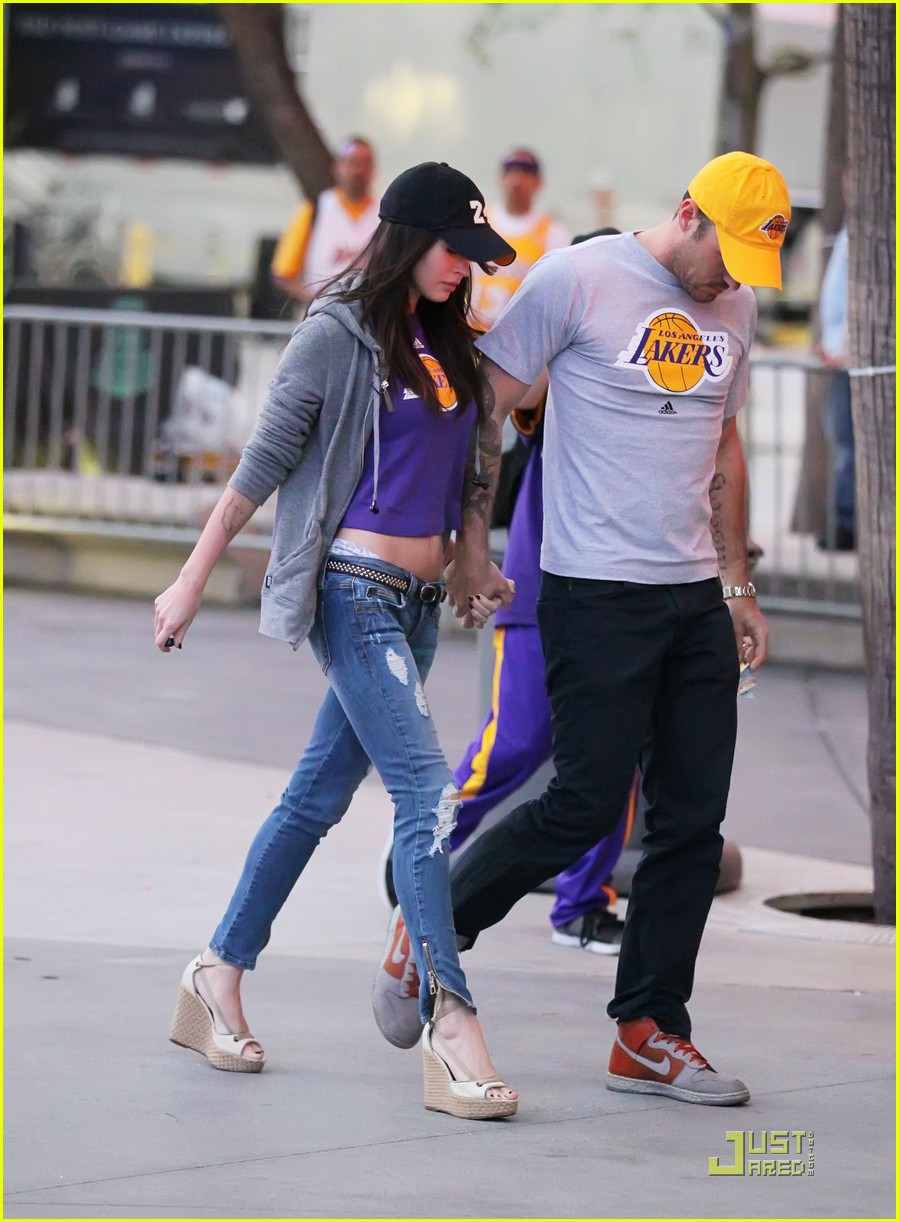 megan fox brian austin green lakers 042538601