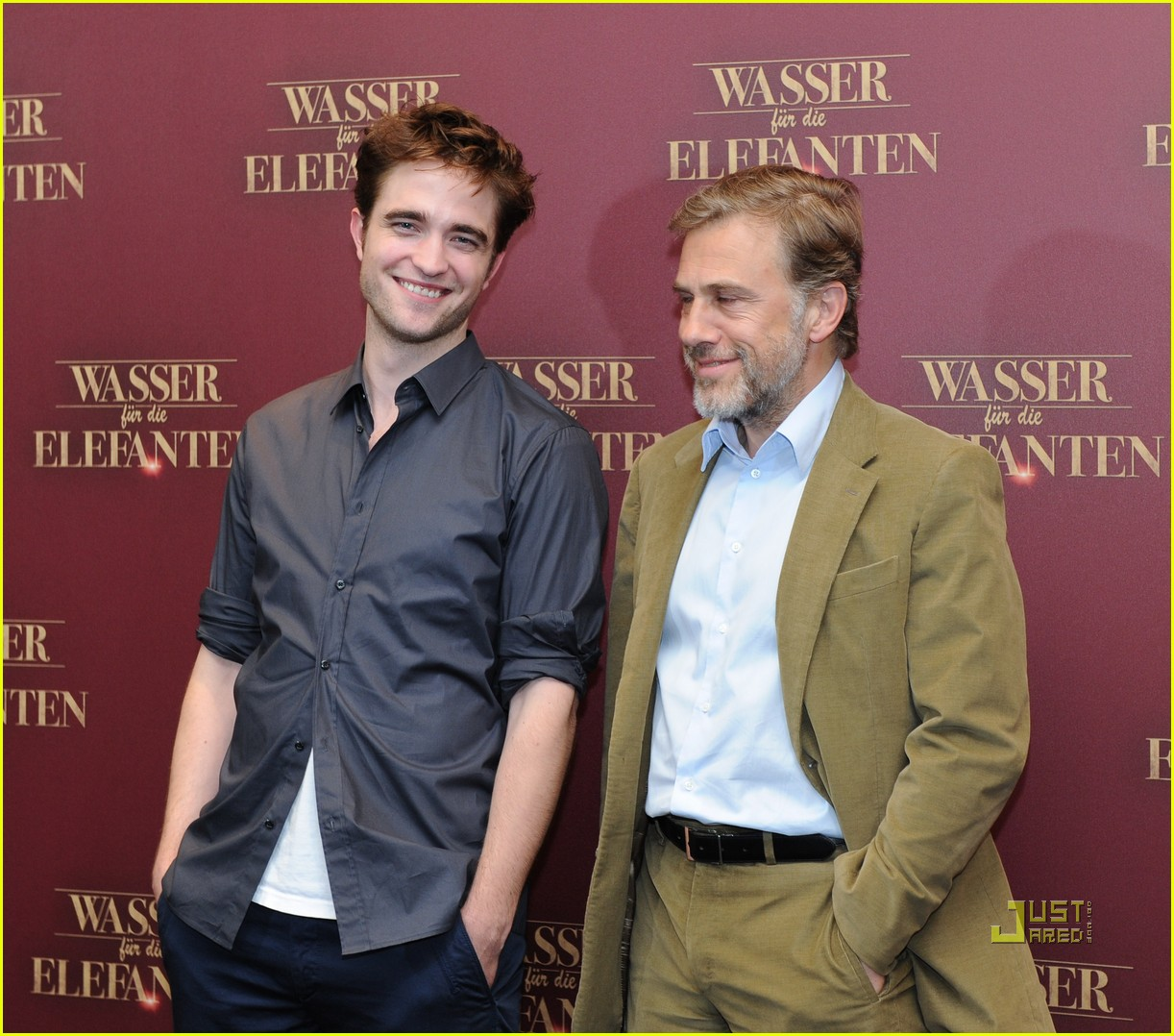 robert pattinson christoph waltz water for elephants photo call berlin 09
