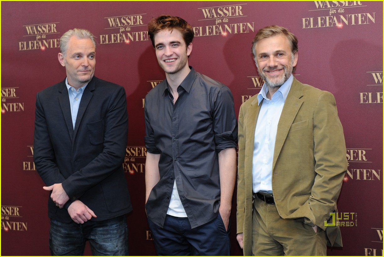 robert pattinson christoph waltz water for elephants photo call berlin 12