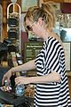 ellen pompeo coffee striped dress 09