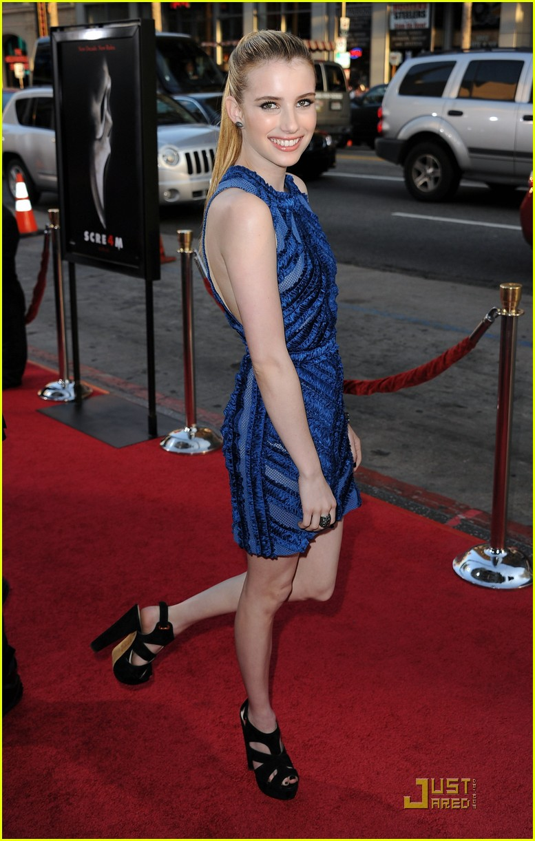 emma roberts scream 4 premiere 03
