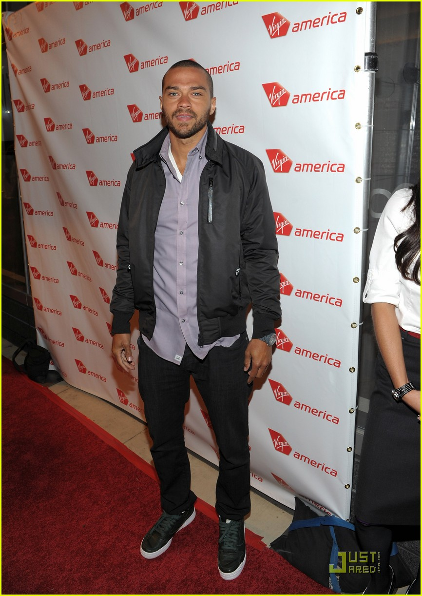 jenna dewan jesse williams virgin america flight launch 03
