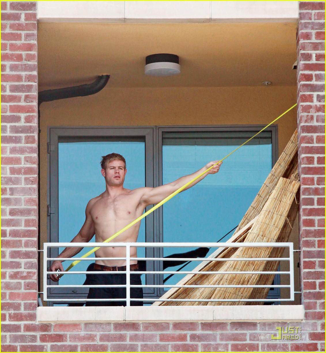 trevor donovan shirtless housework 08