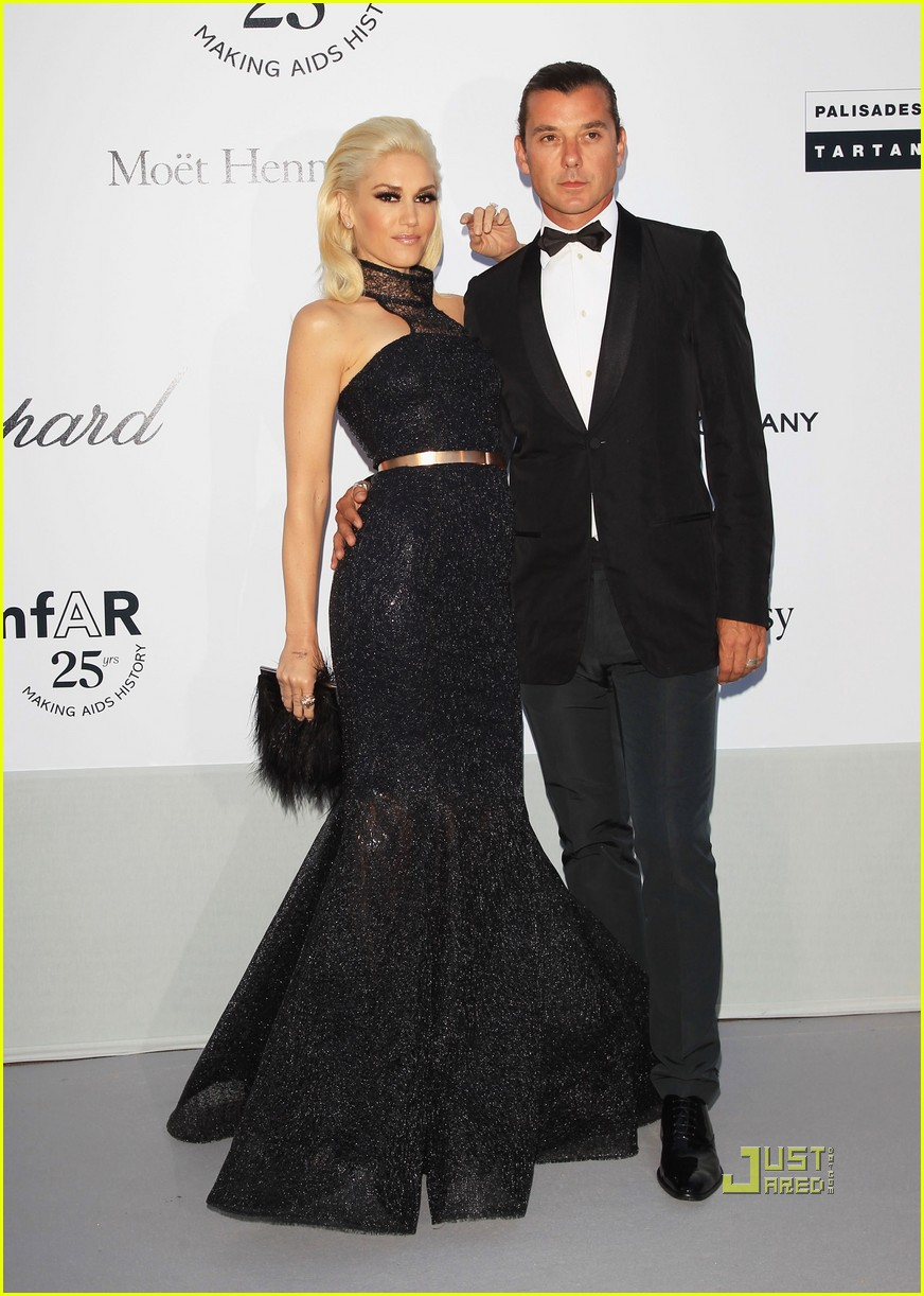 full sized photo of gwen stefani gavin rossdale amfar gala