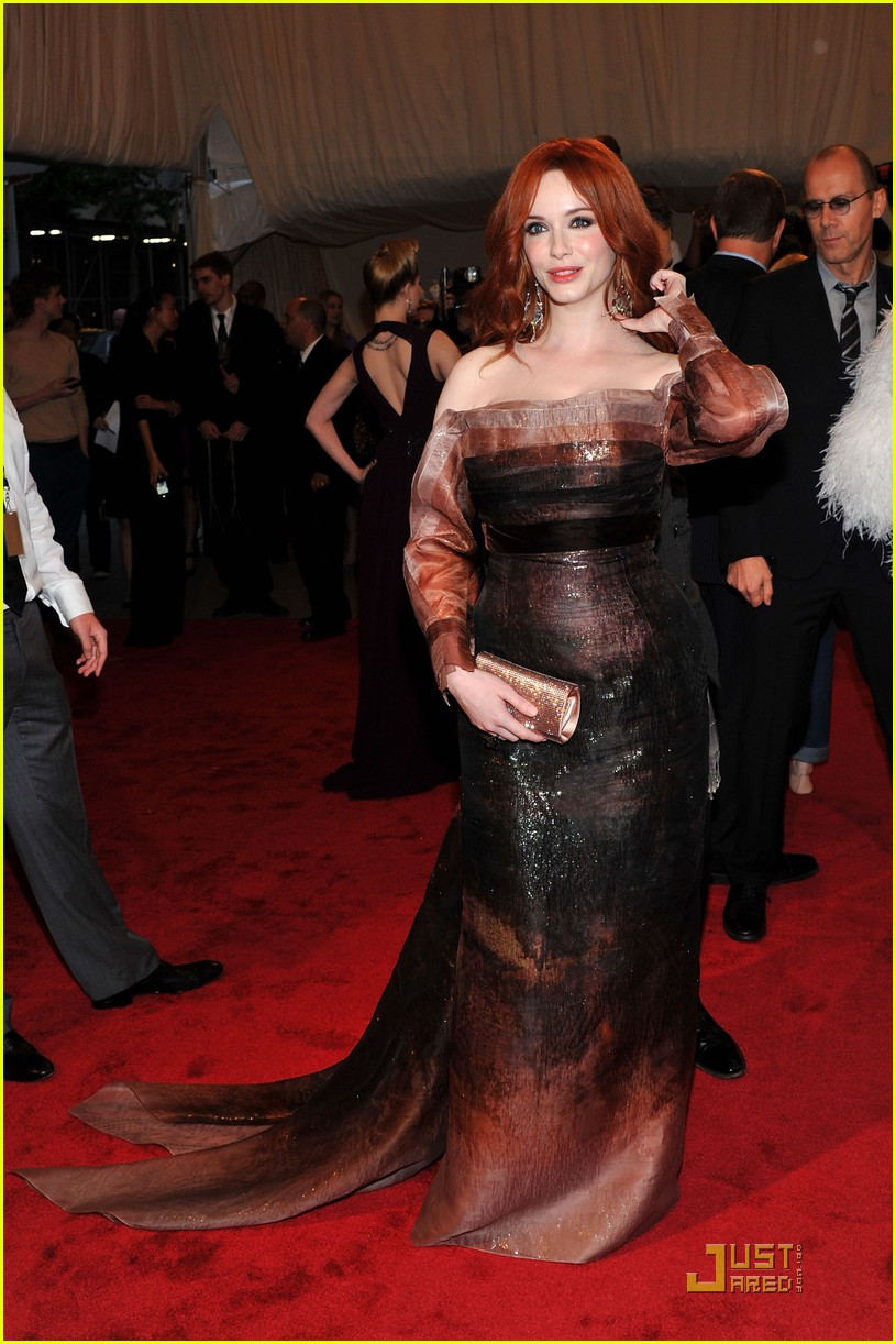 christina hendricks met ball 2011 05
