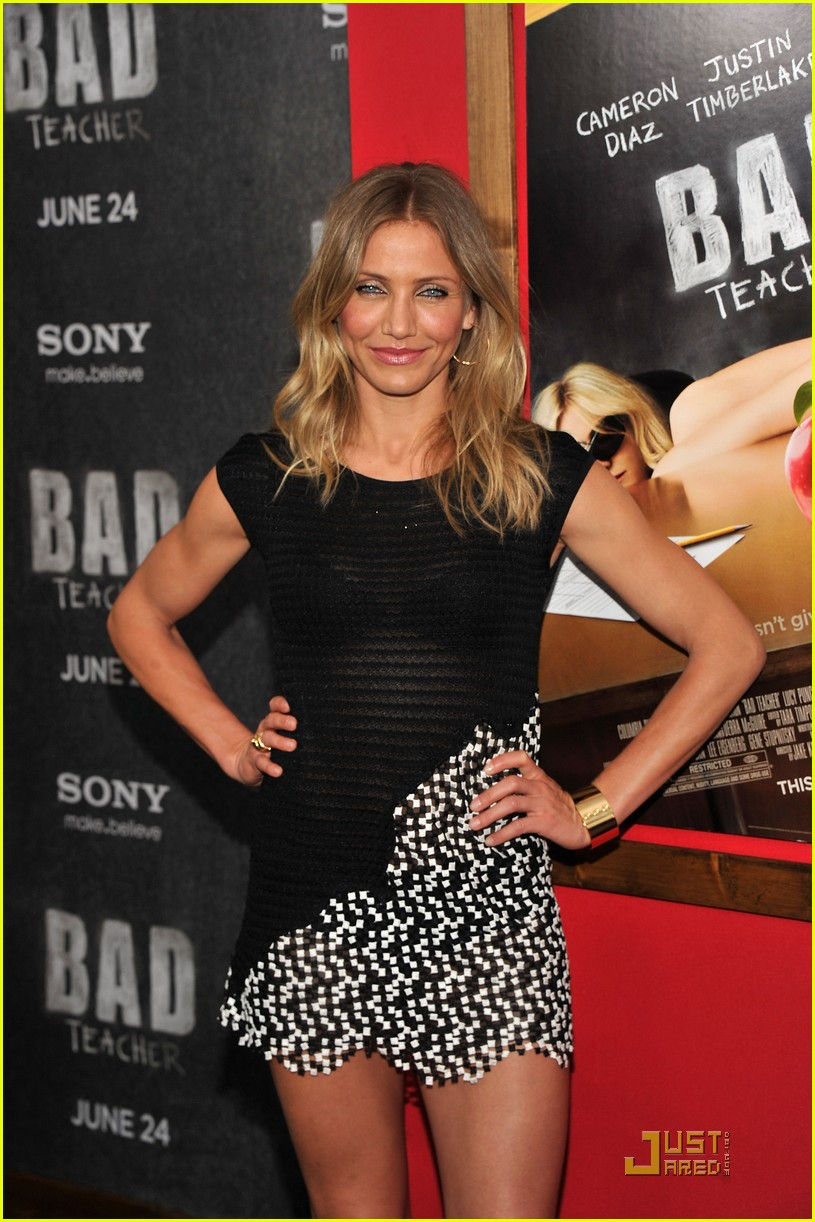 cameron diaz justin timberlake bad teacher premiere 06