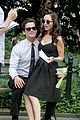 eliza dushku matt bomer white collar set 02