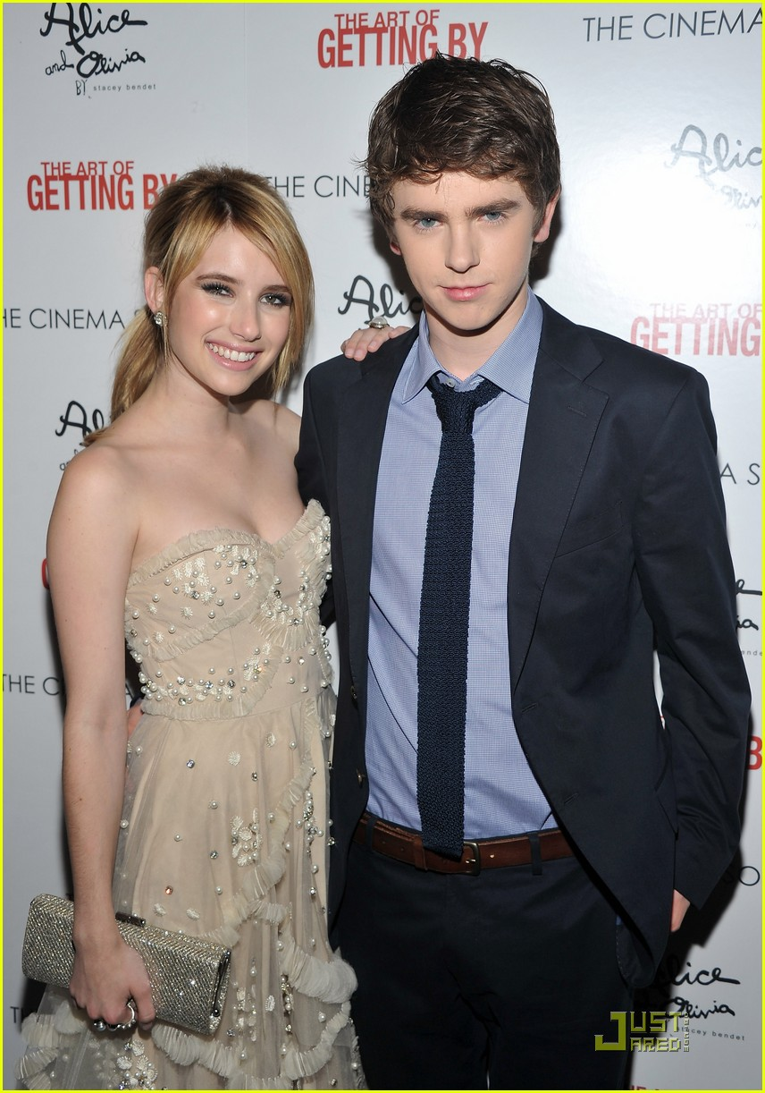 emma roberts freddie highmore art getting by screening 072552164