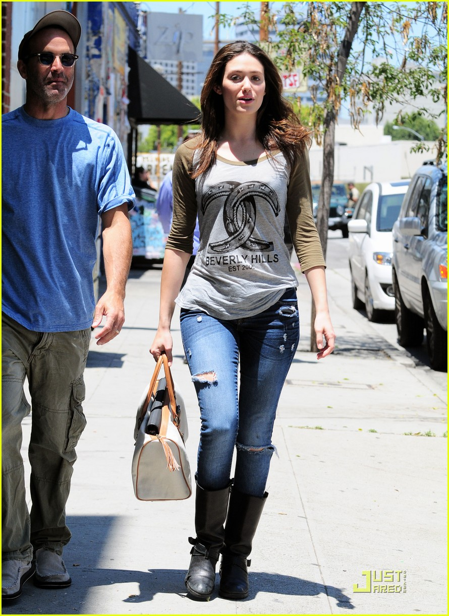 emmy rossum lunch with dj caruso 02