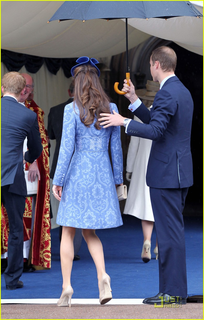 prince william kate sunday church with prince harry 10