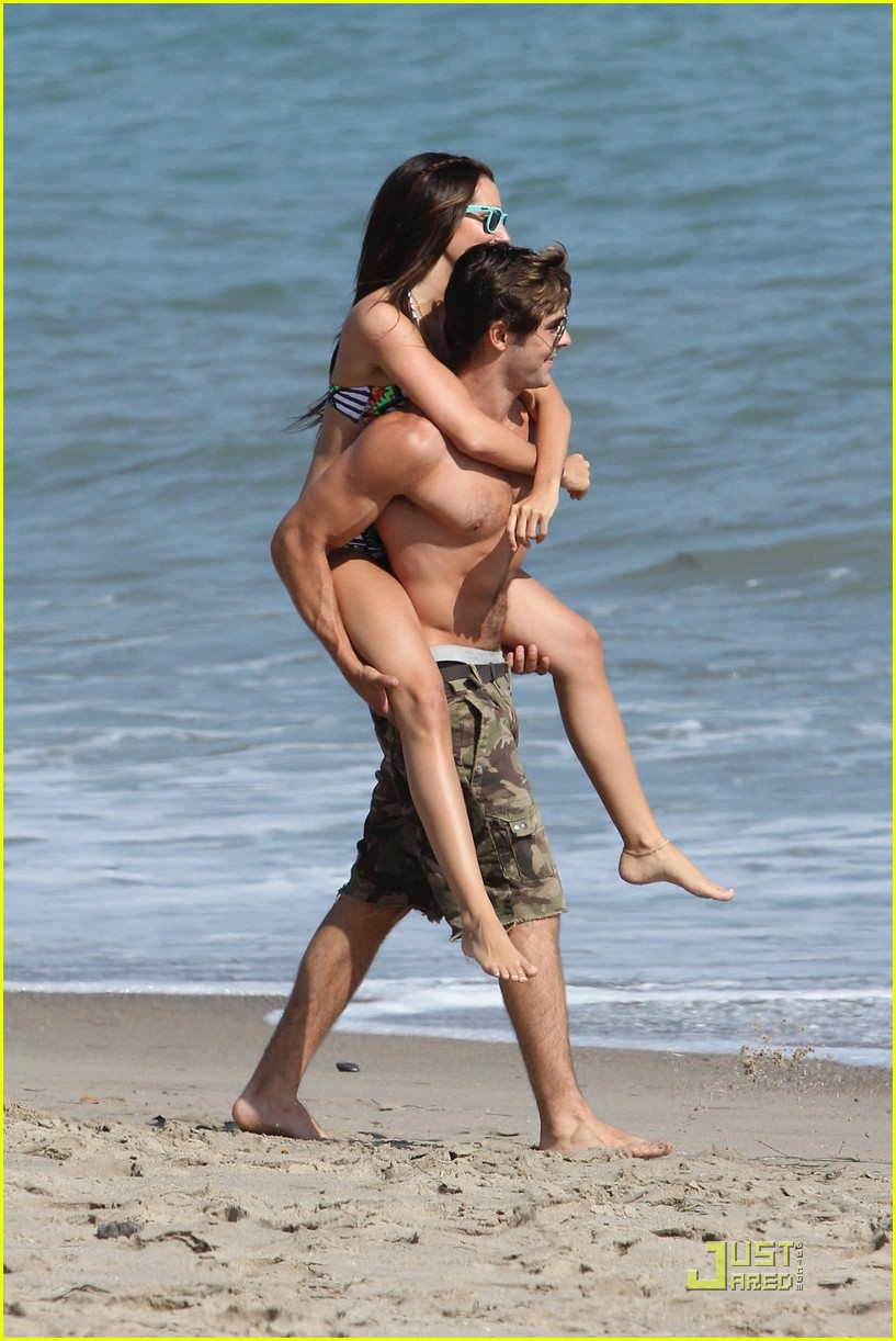 zac efron shirtless piggyback ride for ashley tisdale 18