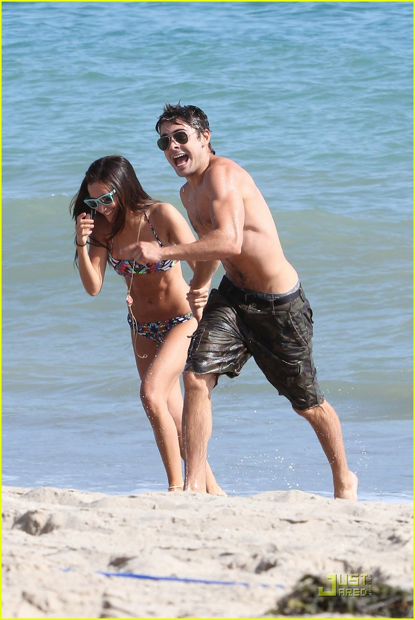 zac efron shirtless piggyback ride for ashley tisdale 23