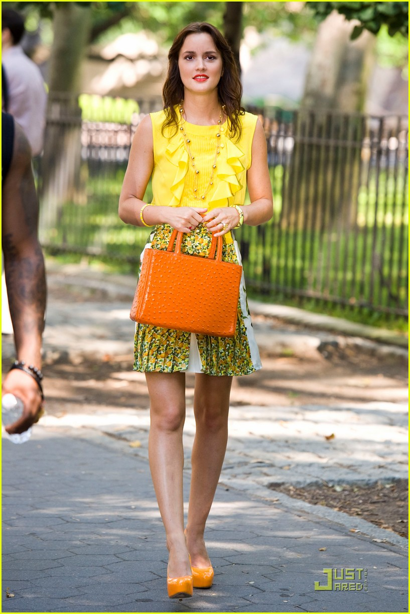 leighton meester yellow gossip girl 01