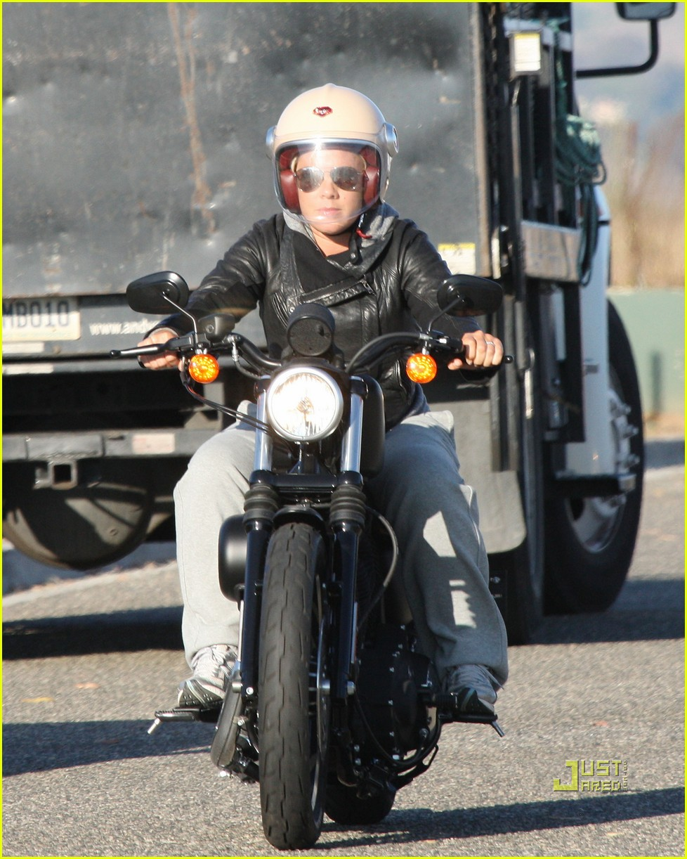 pink carey hart motorcycle 11