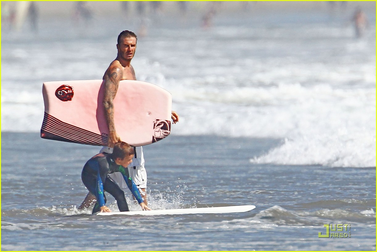 david beckham shirtless beach 11