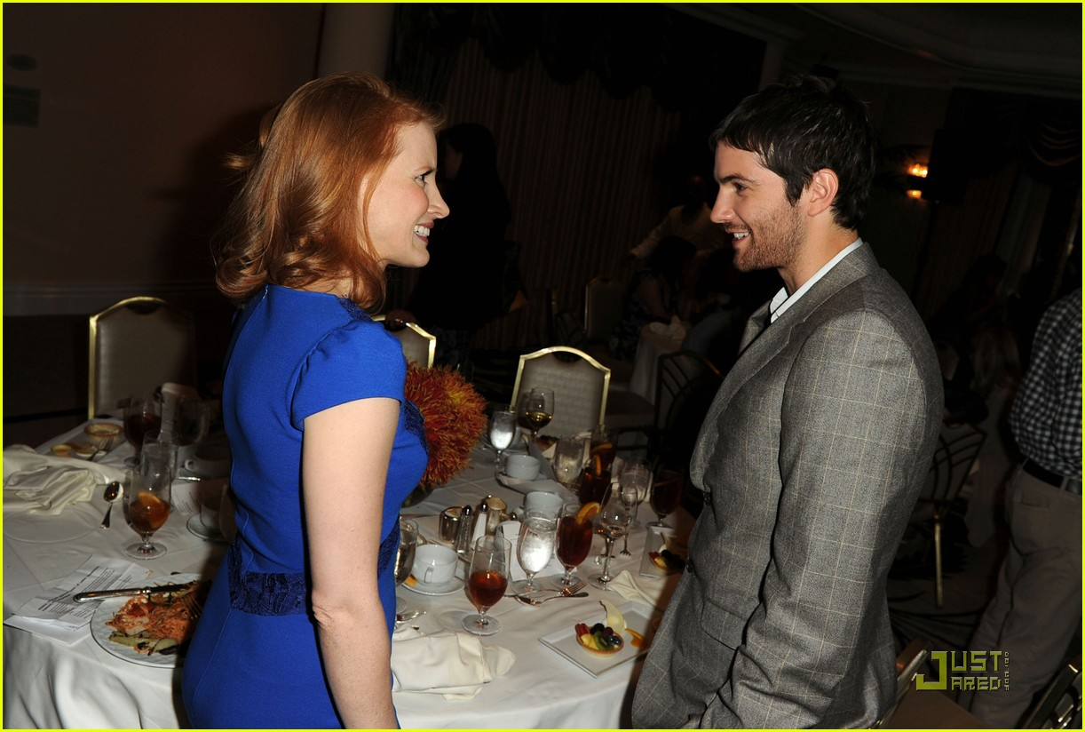 jessica chastain jim sturgess hfpa luncheon 09