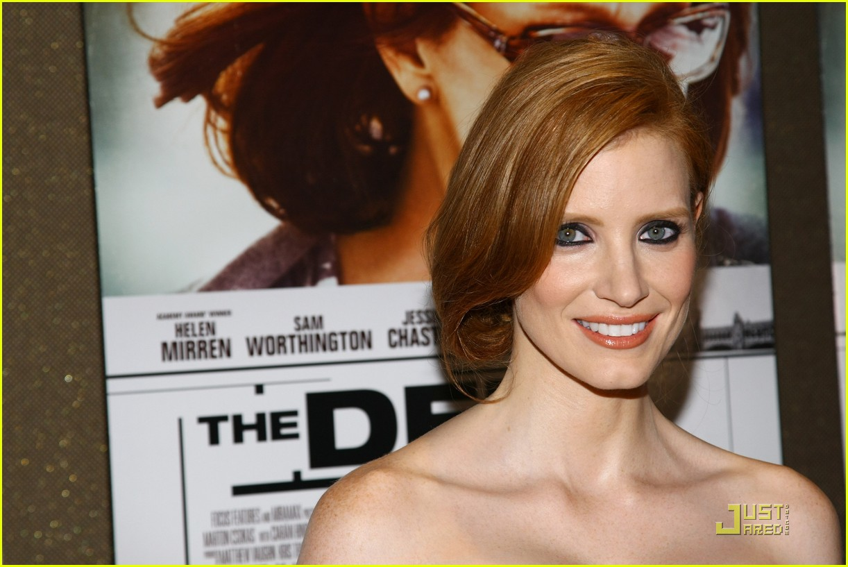 jessica chastain helen mirren debt nyc screening 02