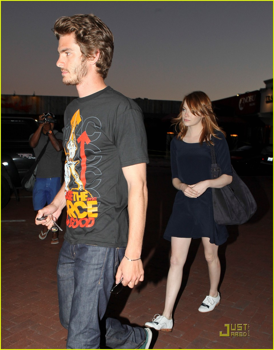 andrew garfield emma stone nobu 01