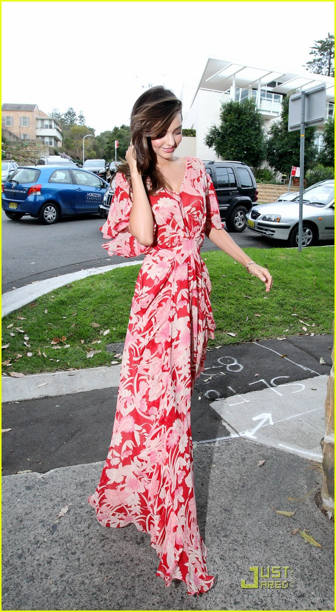 miranda kerr flynn red maxi dress 06