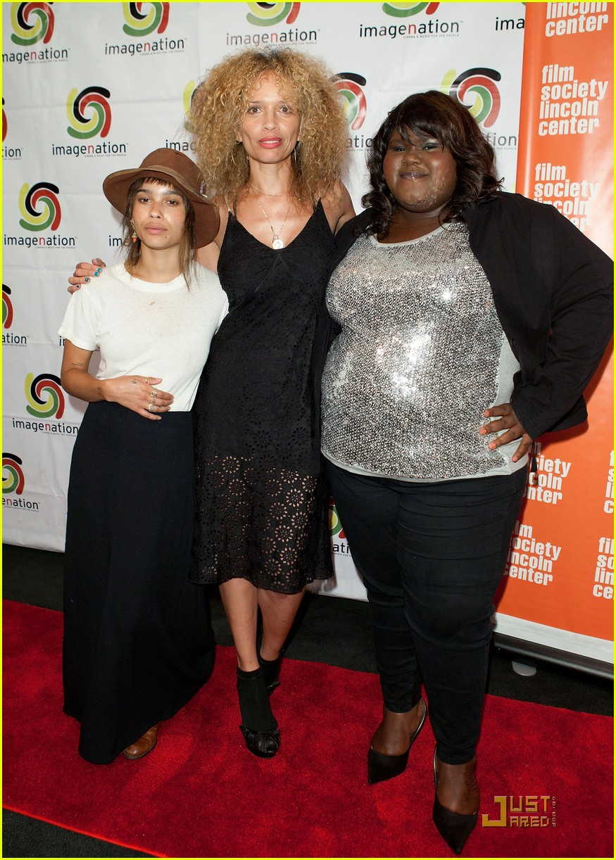 Photo of Gabourey Sidibe & her friend  Zoe Kravitz