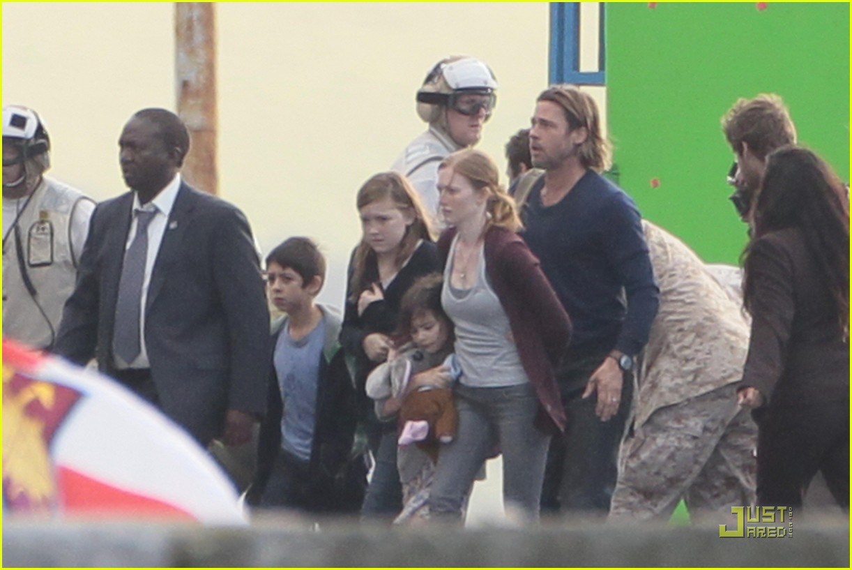 brad pitt world war z filming 02