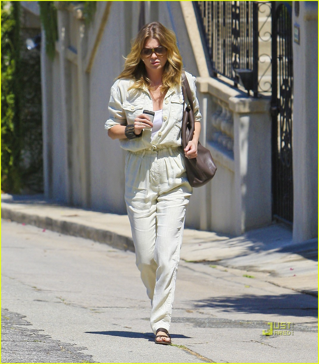 ellen pompeo jumpsuit out la 092571379