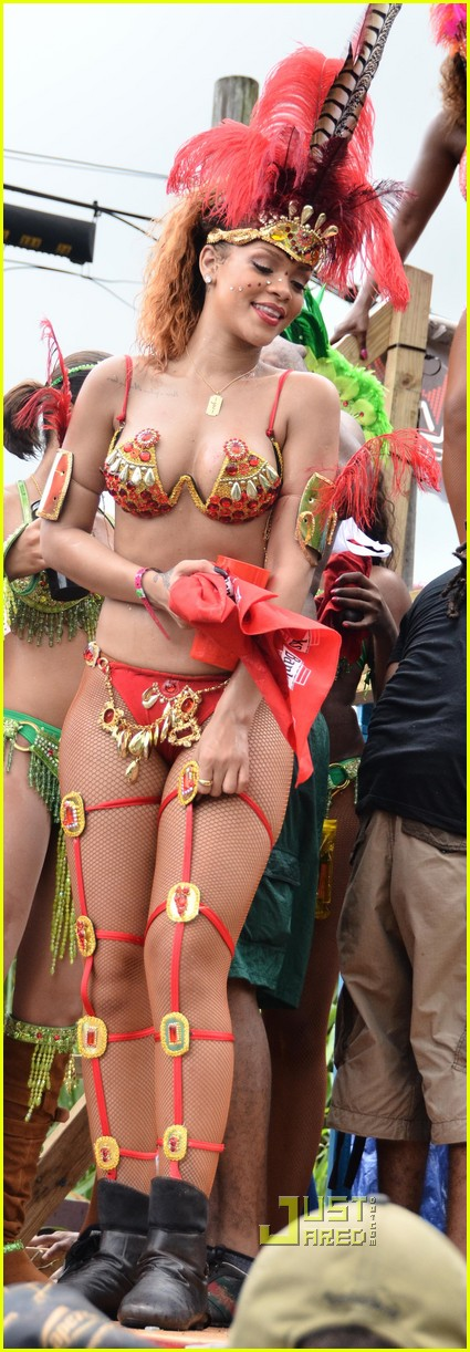 rihanna bikini kadooment day parade 03