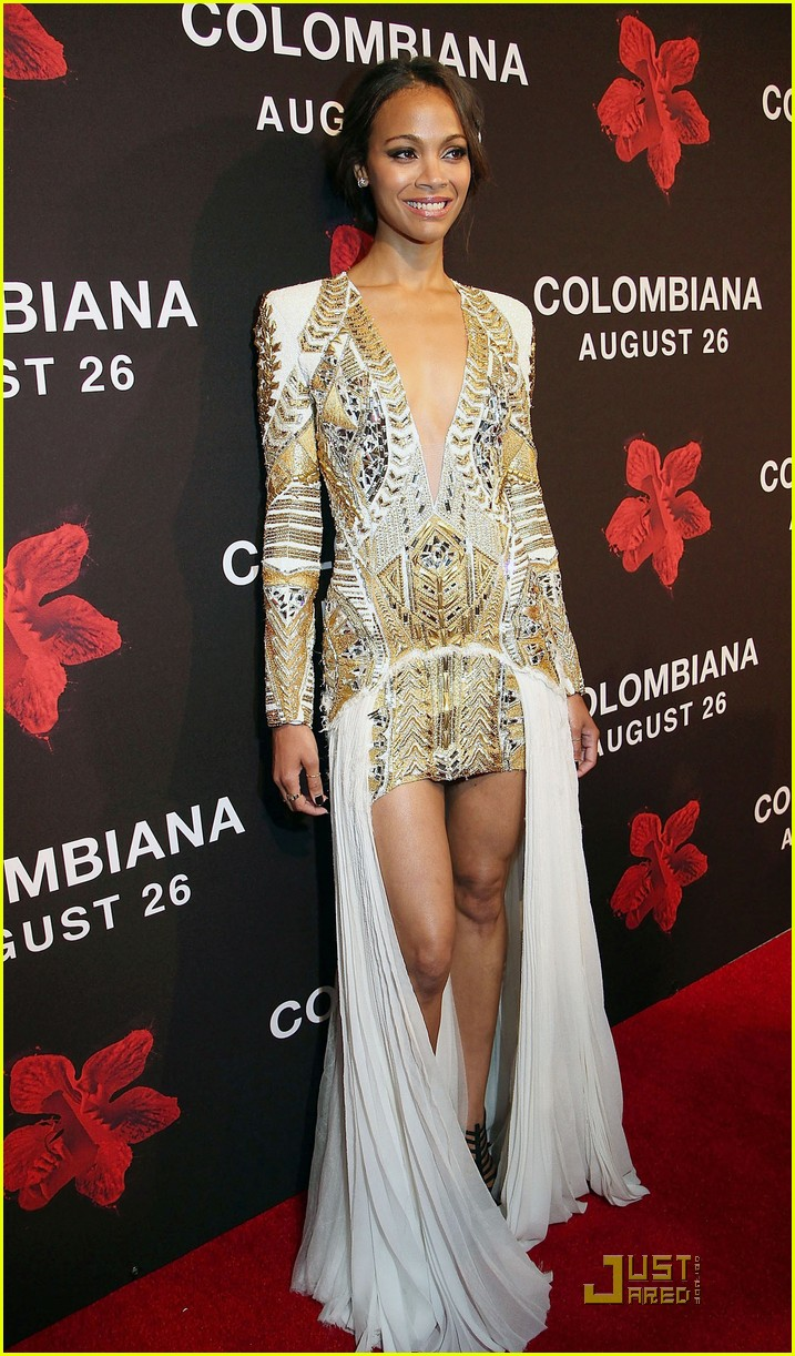 zoe saldana colombiana miami premiere 16