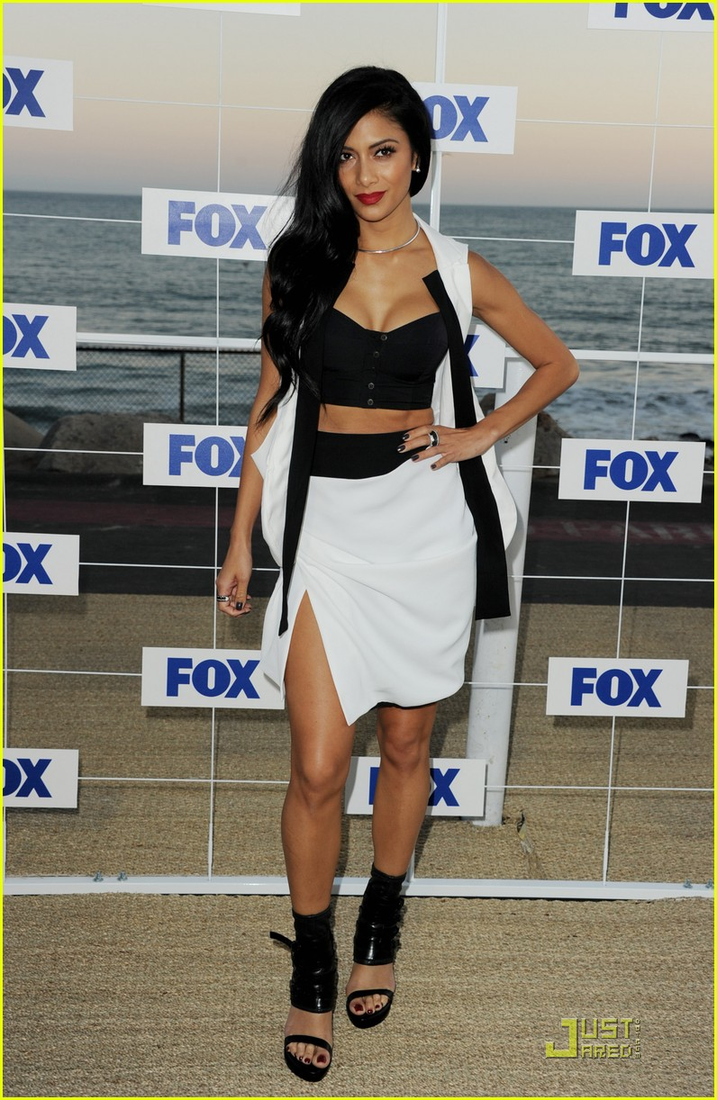 nicole scherzinger paula abdul x factor at fox party 02