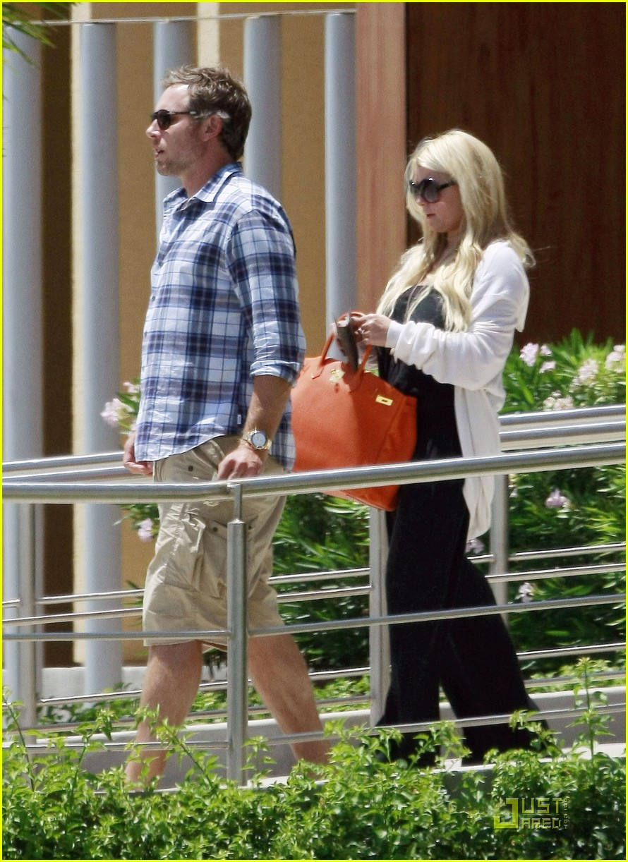 jessica simpson eric johnson jet la 06
