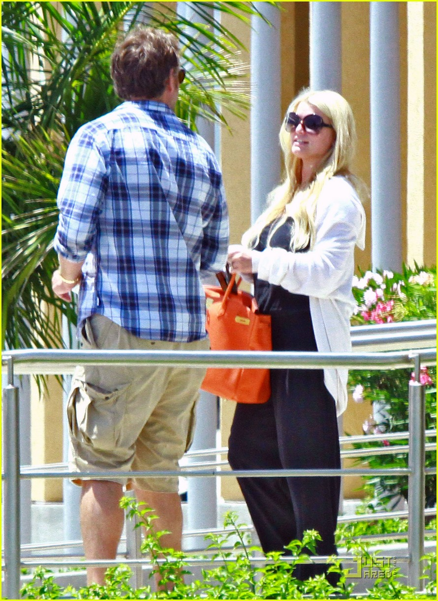 jessica simpson eric johnson jet la 07