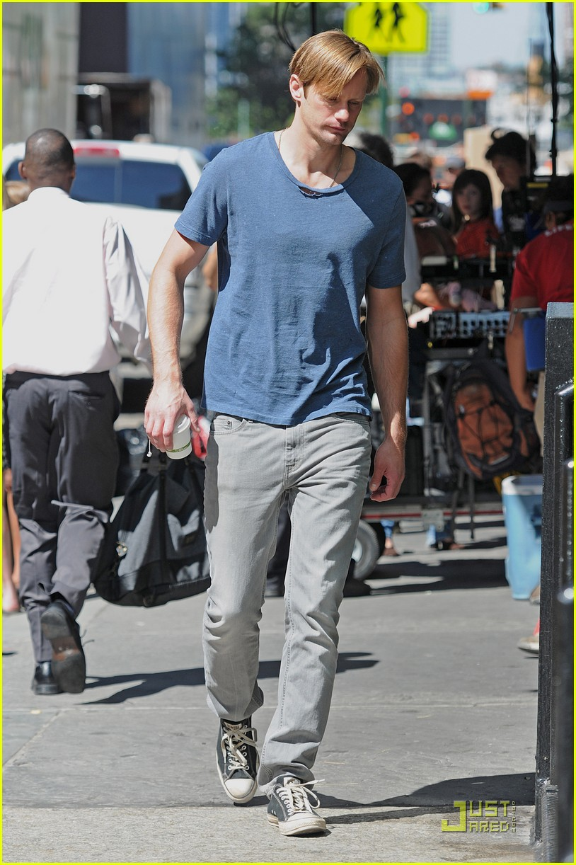 alexander skarsgard carries maisie young costar 022575079