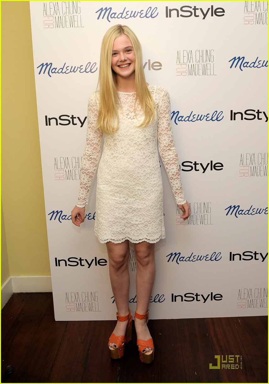 dianna agron elle fanning madewell party 012582802