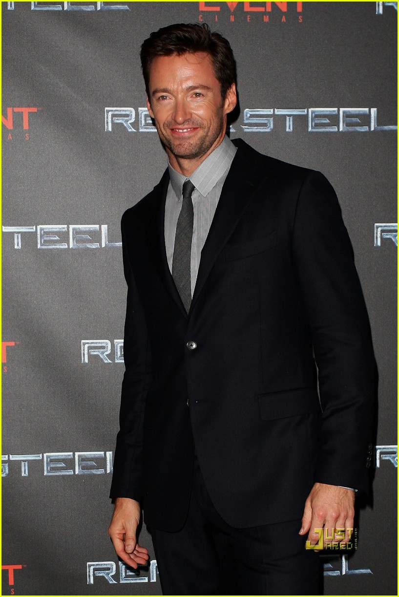 hugh jackman real steel australian premiere 03