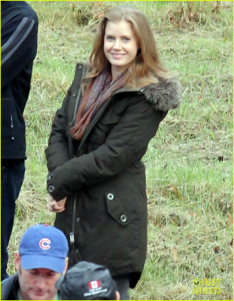 amy adams on set of man of steel 02