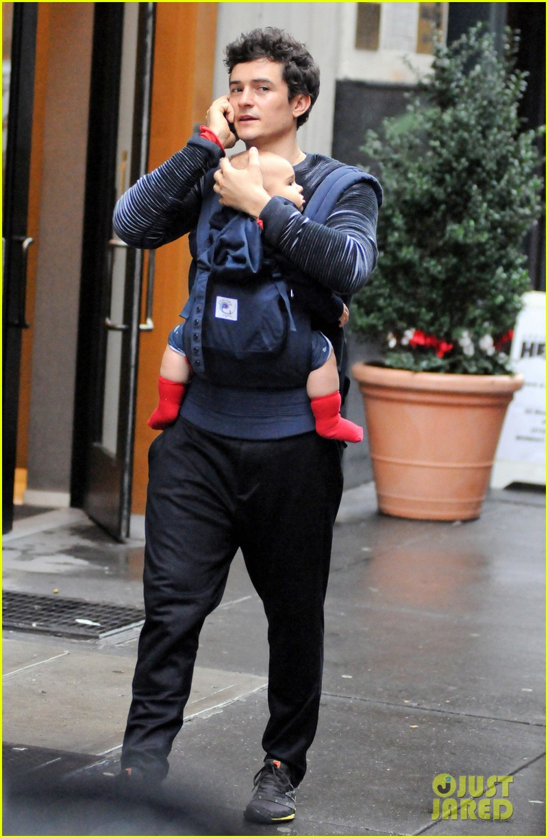 Orlando Bloom: Daddy Duty With Baby Flynn! Orlando Bloom
