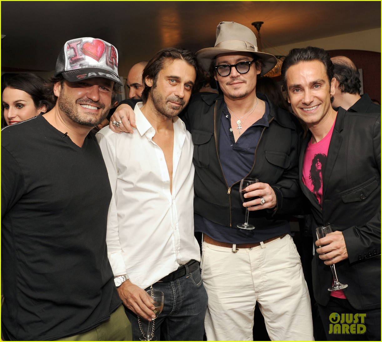 johnny depp chateau marmont art dinner