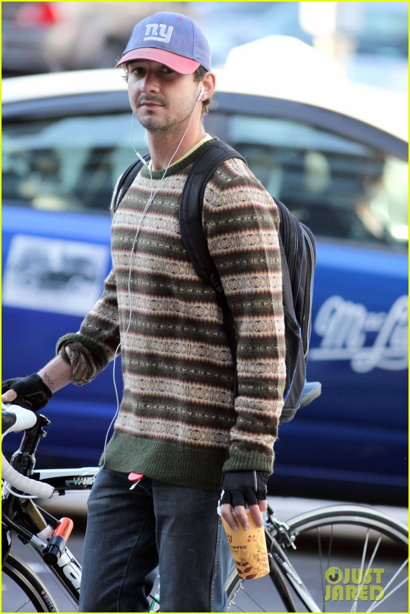 shia labeouf bike striped sweater 04