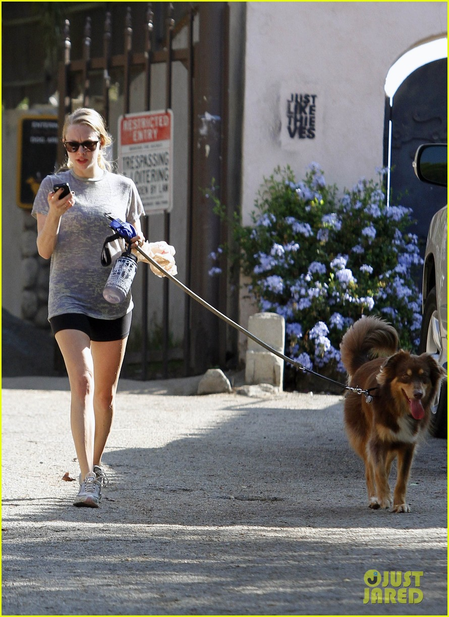 amanda seyfried dog walk friend 08