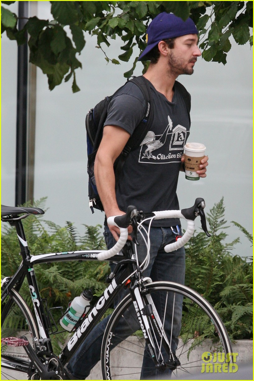 shia labeouf bike downtown 022588510