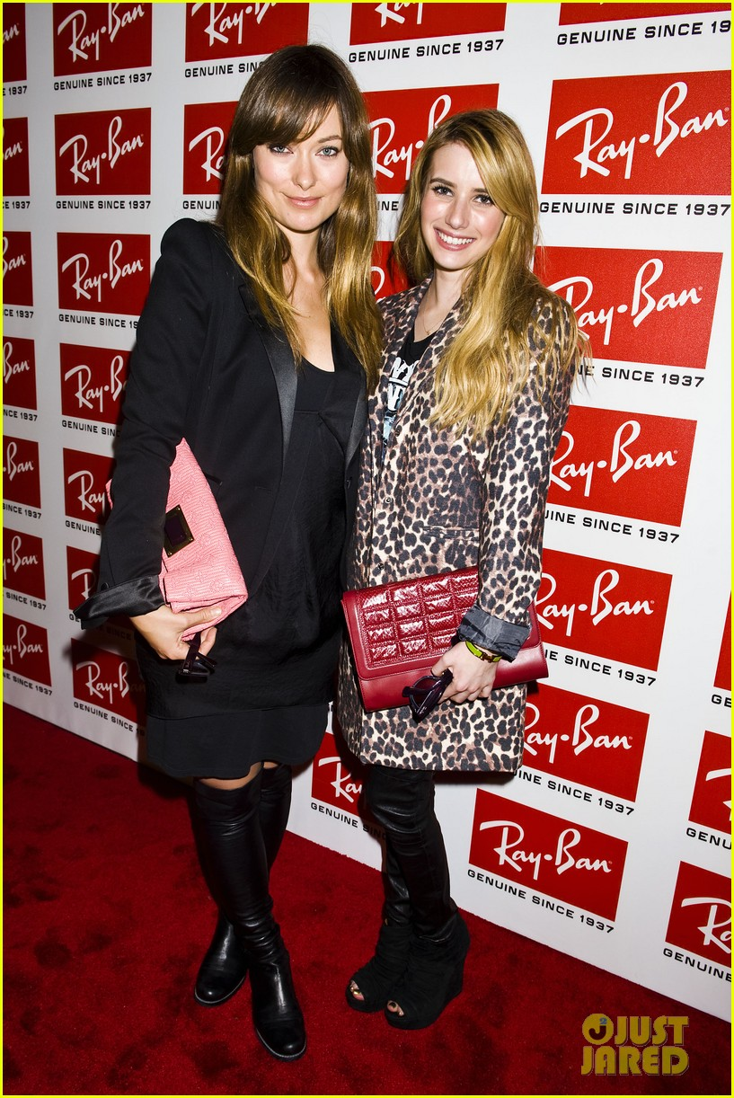 olivia wilde ray ban raw sounds party with emma roberts 012589711