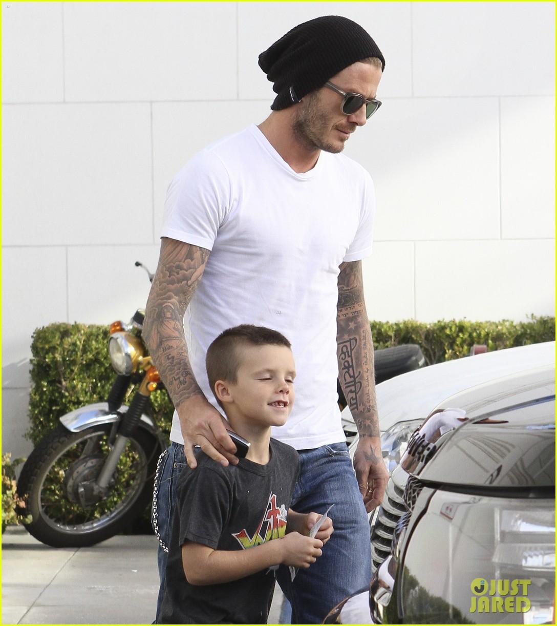 David Beckham: Shopping with Romeo & Cruz! David Beckham